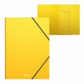 Папка на резинках пластиковая ErichKrause® Classic, A4, желтый (в пакете по 4 шт.) 47193