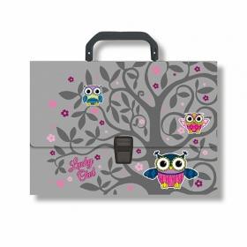 Портфель пластиковый ErichKrause® Lucky Owl, A4  ( в пакете по 1 шт.) 43303