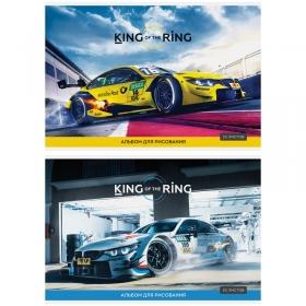 """Альбом для рисования 20л., А4, на скрепке ArtSpace """"Авто. King of the ring"""" А20_26200"""