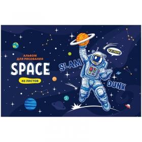 """Альбом для рисования 40л., А4, на скрепке ArtSpace """"Космос. Space missione"""" А40_33643"""