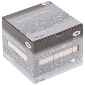 Мелки школьные Гамма, белые, 100шт., мягкие, квадратные, картонная коробка 2308193