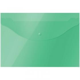 Папка-конверт на кнопке OfficeSpace  А4, 120мкм, зеленая 281218