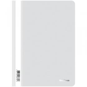 Папка-скоросшиватель пластик. Berlingo, А4, 180мкм, белая с прозр. верхом ASp_04100