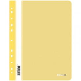 Папка-скоросшиватель пластик. перф. Berlingo, А4, 180мкм, желтая ASp_04205
