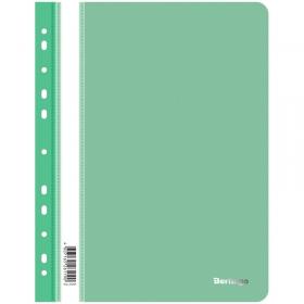 Папка-скоросшиватель пластик. перф. Berlingo, А4, 180мкм, зеленая ASp_04204
