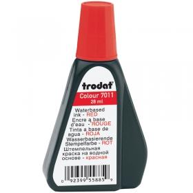 Штемпельная краска Trodat, 28мл, красная 7011к