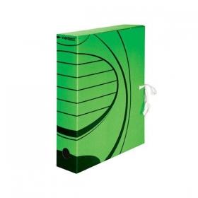 Короб архивный inФОРМАТ 260х320х75 мм А4 зелен. микрогофро. разобран. RB91-75G