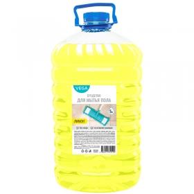 """Средство для мытья пола Vega """"Лимон"""", ПЭТ, 5л"""