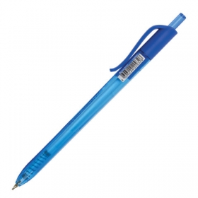 """Ручка шариковая масляная автоматическая BRAUBERG """"Extra Glide R Tone"""", СИНЯЯ, узел 0,7мм, линия пись"""