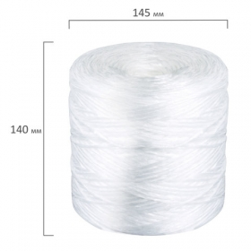 Шпагат полипропиленовый, длина 625 м, диаметр 2 мм, линейная плотность 1600 текс, BRAUBERG, 600117
