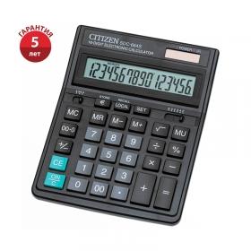 Калькулятор настольный Citizen SDC-664S, 16 разрядов, двойное питание, 153*199*31мм, черный SDC-664S