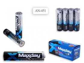 Батарейки алкалиновые ААА, 4 шт. в термопленке AN 451 (цена за 4шт)