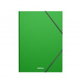 Папка на резинках пластиковая ErichKrause® Matt Classic, A4, зеленый (в пакете по 4 шт.) 47191