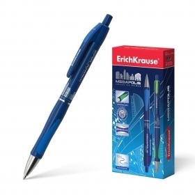 Ручка шариковая автоматическая ErichKrause® MEGAPOLIS® Concept, цвет чернил синий (в коробке по 12 ш