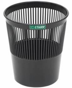 Корзина для бумаг 09л., сетчатая, черная КР21