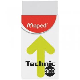 """Ластик """"TECHNIC"""" каучук, картонный держатель, 39*18*12,3мм 011301"""