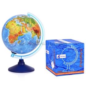 Глобус физический, d=250мм, круглая голубая подставка Ке012500186