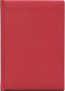 Ежедневник недатированный А5, 192л. ГЛОСС красный (192-0704) перепл.кожзам 2017-2018