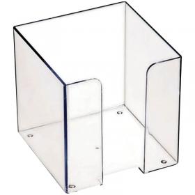 Бокс для бумажного блока Стамм, 9*9*9, прозрачный ПЛ41