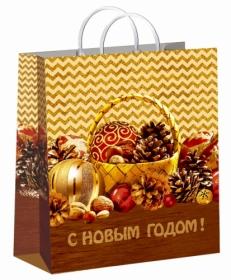 Пакет пластиковый Лукошко 30х40/150, лам. ПИ-4184