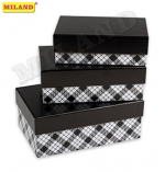 "Набор прямоугольных коробок  3 в 1   ""Классика"" ( 19 х 12 х 7,5 - 15 х 10 х 5 см) ПП-3193"