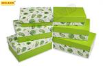 """Набор прямоугольных коробок  3 в 1  """"Джунгли""""  ( 19 х 12 х 7,5 - 15 х 10 х 5 см) ПП-3190"""
