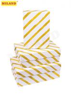 Наборы прямоугольных коробок 3 в 1 Золотая диагональ ( 19 х 12 х 7,5 - 15 х 10 х 5 см)  ПП-3580
