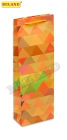 Пакет подарочный Оранжевое лето под бутылку 12 шт  П001-0024