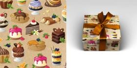 Упаковочная бумага Твой десерт (1л в рулоне, 70 х 100 см) УБ-1609