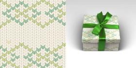 Упаковочная бумага Вязание (1 ЛИСТ, 70 х 100 см, 90 г/м2) 10-05-0004