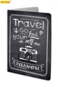 "Обложка на паспорт ""Фотопутешествия"" (ПВХ, slim) ОП-7468"
