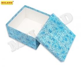 """Одинарная квадратная коробка """"Джентельменский набор"""" 20 х 20 х 10 см ПП-3514"""