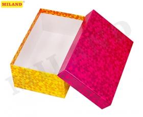 """Одинарная прямоугольная коробка """"Переливы"""" 19*12*7,5 см ПП-3464"""