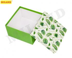 """Одинарная квадратная коробка  """"Джунгли"""" 19,5*19,5*11 см ПП-3428"""