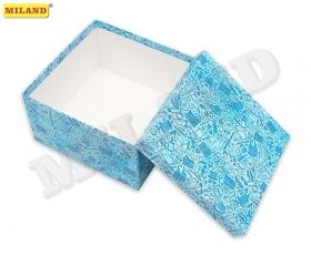 """Одинарная квадратная коробка """"Джентельменский набор"""" 21,5 х 21,5 х 11см ПП-3513"""