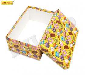 "Одинарная прямоугольная коробка ""Вкусняшки"" 21 х 14 х 9 см ПП-3319"