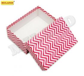 """Одинарная прямоугольная коробка """"Розовый павлин"""" 23,5 х 15,5 х 10 см ПП-3308"""