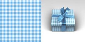 Упаковочная бумага Клетка голубая (1 ЛИСТ  в рулоне, 70 х 100 см, 90 г/м2) 10-05-0009