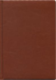ЕЖЕДНЕВНИК А6, 160л. недатир. ВИЛАДЖ светло-коричневый (160П-2855)  перепл.кожзам
