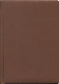 ЕЖЕДНЕВНИК А6, 160л. недатир. ГЛОСС тёмно-коричневый (160П-2853) перепл.кожзам