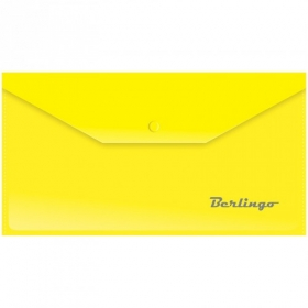 Папка-конверт на кнопке C6, 180мкм, желтая AKk_06305