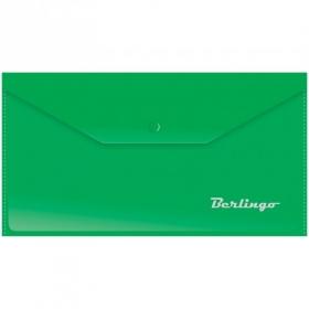 Папка-конверт на кнопке C6, 180мкм, зеленая AKk_06304
