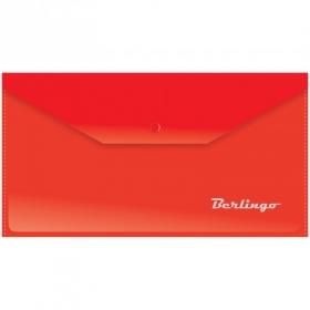 Папка-конверт на кнопке C6, 180мкм, красная AKk_06303