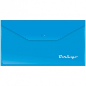 Папка-конверт на кнопке C6, 180мкм, синяя AKk_06302