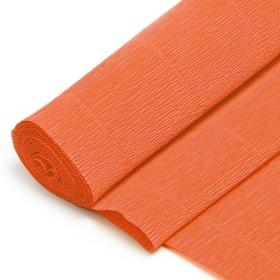 Бумага гофрированная поделочная 50*250см оранжевый DV-10633-25