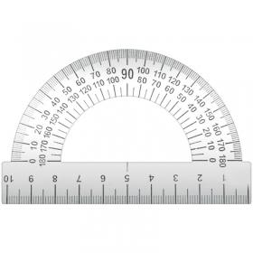Транспортир 10см, 180°, металл. ТС-10 ТС-10-532