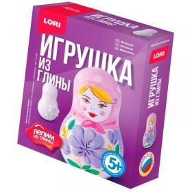 """Набор для изготовления игрушек из глины Lori """"Лепим из глины. Матрешка"""", от 5-ти лет, картон Гл-002"""