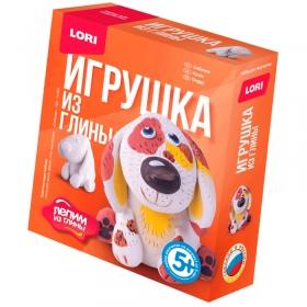 """Набор для изготовления игрушек из глины Lori """"Лепим из глины. Собачка"""", от 5-ти лет, картон Гл-003"""