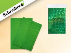 Набор голографической  бумаги А4, цвет- ЗЕЛЕНЫЙ, 10 листов S 8659