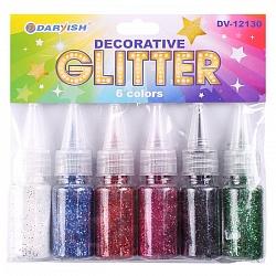 Декоративные блёстки с дозатором 6 цветов 6шт (набор) DV-12130